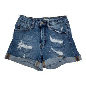 KanCan Los Angeles Womens Distressed Jean Shorts